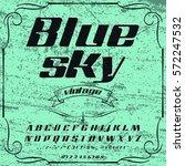 script  font typeface blue sky... | Shutterstock .eps vector #572247532