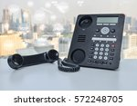ip phone with photo shop icon... | Shutterstock . vector #572248705