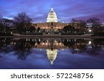 the capitol at night  ... | Shutterstock . vector #572248756