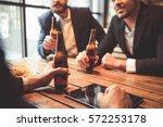 handsome businessmen are...   Shutterstock . vector #572253178