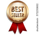 best seller label with red... | Shutterstock .eps vector #572253832
