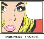 pop art vector illustration of... | Shutterstock .eps vector #57225841