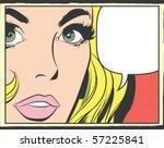 pop art vector illustration of...   Shutterstock .eps vector #57225841