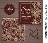 wedding invitation card suite... | Shutterstock .eps vector #572268142