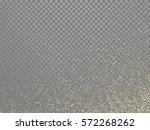 gold glitter stardust trail on... | Shutterstock .eps vector #572268262