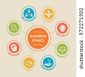 business ethics. concept with... | Shutterstock .eps vector #572271502