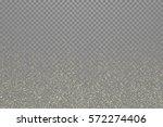 gold glitter stardust trail on... | Shutterstock .eps vector #572274406