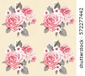 seamless floral pattern with... | Shutterstock .eps vector #572277442