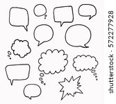 speech or thought bubbles of... | Shutterstock .eps vector #572277928