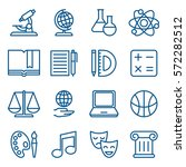 simple linear set of school and ... | Shutterstock .eps vector #572282512