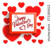 valentines day background with... | Shutterstock .eps vector #572283022