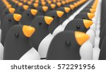 group of penguins as a mascot... | Shutterstock . vector #572291956