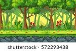 seamless cartoon nature... | Shutterstock .eps vector #572293438