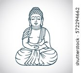 buddha outline stock vector... | Shutterstock .eps vector #572294662