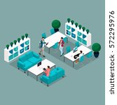 trendy isometric people and... | Shutterstock .eps vector #572295976