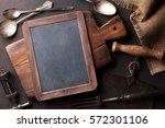 old vintage kitchen utensils.... | Shutterstock . vector #572301106