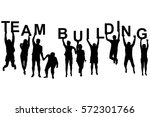 team building concept with... | Shutterstock . vector #572301766
