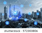 smart city and wireless... | Shutterstock . vector #572303806