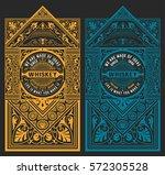 vintage design set for whiskey... | Shutterstock .eps vector #572305528