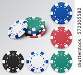 set of casino chips. vector... | Shutterstock .eps vector #572305582