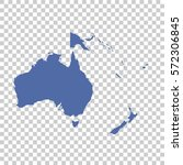 map of oceania on isolated... | Shutterstock .eps vector #572306845