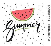 hello summer lettering and... | Shutterstock .eps vector #572308006