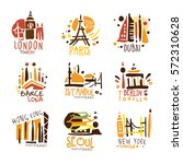 touristic travel agency set of... | Shutterstock .eps vector #572310628