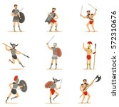 gladiators of roman empire era... | Shutterstock .eps vector #572310676