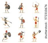 Gladiators Of Roman Empire Era...