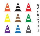 set construction barrier icon... | Shutterstock .eps vector #572313442