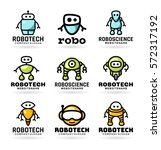 vector robot icons and logo... | Shutterstock .eps vector #572317192