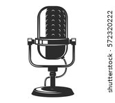 vintage microphone icon... | Shutterstock .eps vector #572320222