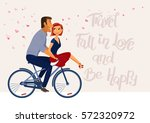 travel  fall in love  and be... | Shutterstock .eps vector #572320972