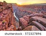 sunrise at toroweap in grand... | Shutterstock . vector #572327896