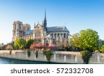 notre dame cathedral in paris... | Shutterstock . vector #572332708