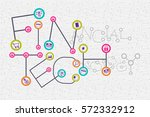fintech. financial technology... | Shutterstock .eps vector #572332912