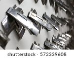 tools design on white wall... | Shutterstock . vector #572339608