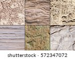 collage of natural geological...