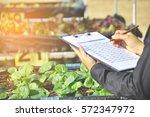 young women asian farmers ... | Shutterstock . vector #572347972