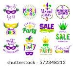mardi gras lettering typography ... | Shutterstock .eps vector #572348212