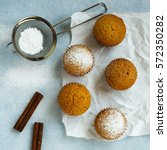 homemade muffin with cinnamon... | Shutterstock . vector #572350282
