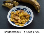 plantain fried and raw | Shutterstock . vector #572351728