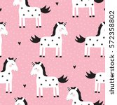 Seamless Cute Unicorn Pattern...