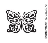 graphic icon of butterfly.... | Shutterstock .eps vector #572368072