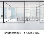 front view of a meeting room... | Shutterstock . vector #572368402