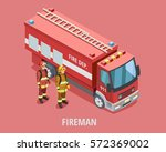 Profession Fireman Isometric...