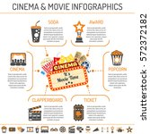 cinema and movie infographics... | Shutterstock .eps vector #572372182