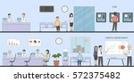 bank and office interior.... | Shutterstock . vector #572375482