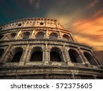 rome  italy.one of the most... | Shutterstock . vector #572375605