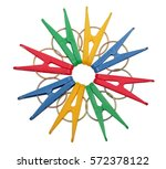 different colors clothespins... | Shutterstock . vector #572378122
